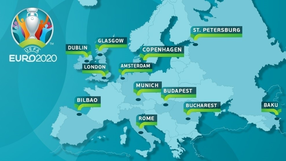 Map of host cities